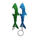 Custom Shark Bottle Opener with Key Chain, Laser Engraved, 4 1/4