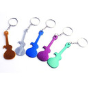Blank Guitar Shape Bottle Opener with Keychain, 2 7/8