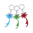 Blank Palm Tree Bottle Opener with Key Chain, 2 3/4