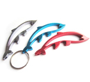 Custom Hollow Dolphin Bottle Opener with Key Chain, Silk Printed, 3