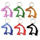 Blank Horse Head Bottle Opener with Key Chain, 2 1/4