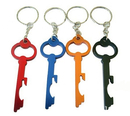 Custom Key Shaped Bottle Opener with Key Chain, 2 15/16