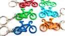 Custom Bicycle Shaped Bottle Opener with Key Chain, Laser Engraved, 2 1/2