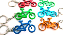 Custom Bicycle Shaped Bottle Opener with Key Chain, Silk Printed, 2 1/2