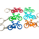 Blank Bicycle Shaped Bottle Opener with Key Chain, 2 1/2