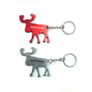 Custom Reindeer Shaped Bottle Opener with Keychain, Laser Engraved, 2.15