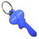 Customized Classic Large Key Shape Aluminum Bottle Opener With Keychain, Laser Engraved
