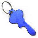 Blank Classic Large Key Shape Aluminum Bottle Opener With Keychain