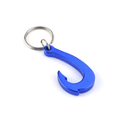 Custom Fish Hook Bottle Opener Key Ring, Laser Engraved, 2