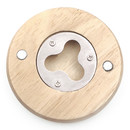 Custom Round Wooden Bottle Opener, 2-3/4