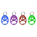 Custom Paw Shaped Bottle Opener with Keychain, 3-1/4