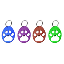Blank Paw Shaped Bottle Opener with Keychain, 3-1/4
