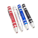 Custom 8 in 1 Pen Style Screwdriver Set, 4-3/8