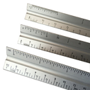Blank 12 Inch L Metal Aluminum Triangular Architect Scale Ruler