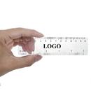 Custom Plastic Ruler Bookmarks, Measuring Tool, Gloss Clear, 5.5