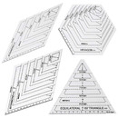 Blank 4PCS Quilting Ruler Set, Patchwork Sewing Cutting Craft Ruler