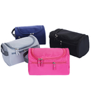 Blank Multifunctional Toiletry Bag Travel Case with Hanging Hook, Unisex, 9-4/5