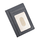 Blank Mens Card Protection Wallet Genuine Leather ID Window, 4-1/2