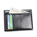 Blank Genuine Leather Access Denied Rfid Wallet Ultra Thin, 4-1/2