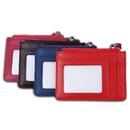 Custom Small Womens RFID Zippered Card Holder Wallets with ID Window & Key Chain, 4.5