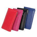 Blank Genuine Leather Women RFID Blocking Card Wallet Bifold Zippered Purse for iPhone 6/6S/7, 7.5