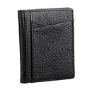 Blank Slim Driver's License Leather Wallet, Front Pocket Credit Card Thin Wallet, 4.5