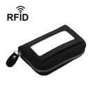 Blank Leather Credit Card Accordion RFID Wallet with ID Window Small Purse Large Capacity, 4.33