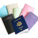 Blank Leather Passport Holder Cover & Travel Wallet ID Card Case