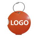 Custom Round Rotating Luggage Tag w/ Aluminum Hanging Hoop, 2-1/8