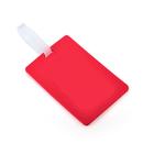Blank Soft PVC Luggage Tag w/ Pocket, 2-3/4