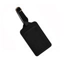 Blank Leatherette Leather Luggage Tag w/ Buckled Strap, 2-3/4