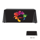 Customized Closed Back Flat 4 Sides Table Cover Fits 8ft Table