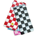 Heavy Duty Rectangle Plastic Table Cover, Checkered Reusable Tablecloth, 54