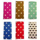 Heavy Duty Rectangle Polka Dots Plastic Table Cover, Disposable Table Cloth, 40
