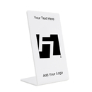 Custom Acrylic Vertical Slant Back Single Sided Easel Sign (No Insert), 4