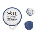 Custom Nylon Pop Up Fan with Plastic Handle, 8