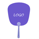 Custom Plastic Handle Hand Fans, 6