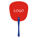 Custom Hand Fans with Plastic Handle, 6