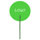 Custom Hand Fans, Long Plastic Handle, 7