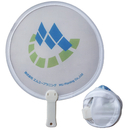 Custom Nylon Pop Up Fan with Short Plastic Handle, 8