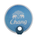 Custom Non-woven Pop Up Fan with O Shape Plastic Handle, 8