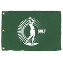 Custom Nylon Golf Flag With 3 Grommets, Screen Printed, 14