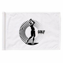 Custom Nylon Golf Flag With PVC Tube, Screen Printed, 14