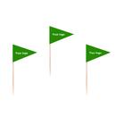 Custom Triangle Toothpick Flag, 3.25