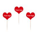 Custom Love Shape Toothpick Flag, 3.25