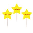 Custom Star Shape Toothpick Flag, 3.25