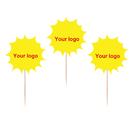 Custom Sun Shape Toothpick Flag, 3.25
