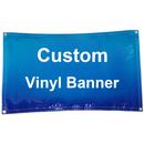 Custom Indoor Outdoor Advertising Vinyl Banner with Grommets Size 4'x 8', 13 oz
