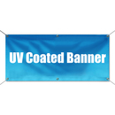 Custom UV Coated Banner with Grommets for Indoor Outdoor Advertising , 15 oz