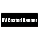 Custom Full Color UV Coated Banner with Grommets for Indoor Advertising, 15 oz